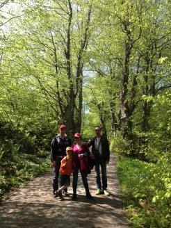Saku, Anton, Mervi & Christian in Vallisaari