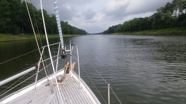 Typical view from the Kiel canal. Not much to see but there's a bikeway along the canal the whole way.