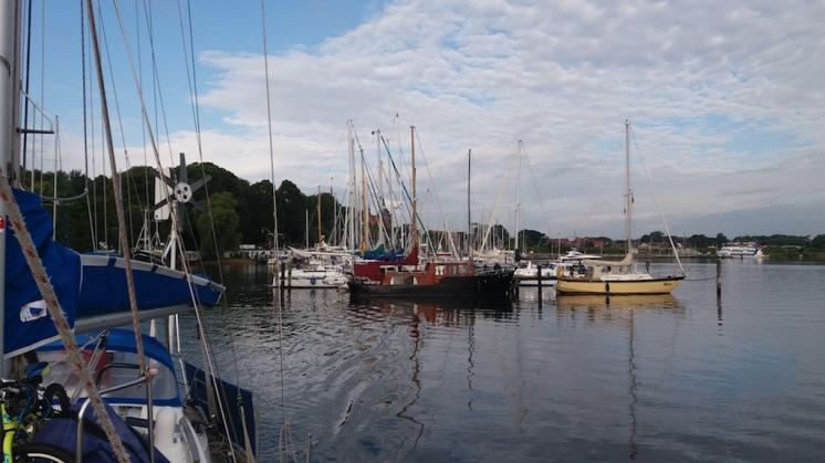 Seaside harbor at Rendsburg